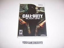 Original Box Replacement Case for Nintendo Wii - CALL OF DUTY BLACK OPS