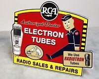 RCA Victor Radio Stand up Display Nipper Dog Camden NJ radiotron tubes