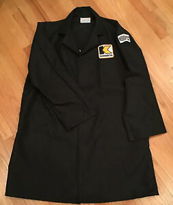 """Kennametal """"Milling Team"""" Black Poly-Cotton Warehouse Labcoat Workcoat XL (AW)"""