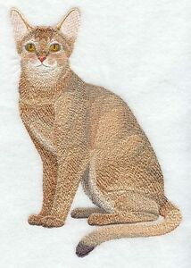 Embroidered Ladies Fleece Jacket - Abyssinian Cat C7904 Sizes S - XXL