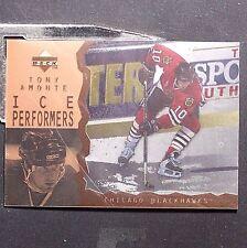 TONY AMONTE  1996-97 UD  Ice Acetate Parallel #13  Chicago Blackhawks