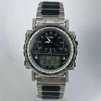 Timex Mens Zulu Time 633 Multifunctional Digital Analog Watch Stainless Steel