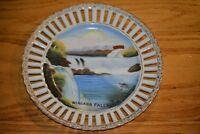 "Prospect Point Niagara Falls 7 1/4"" PLATE made in Japan 1950s Reticulated"