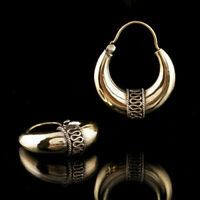 Tribal Brass Earrings Gypsy Hoop Ethnic Festival Jewellery Indian boho 63