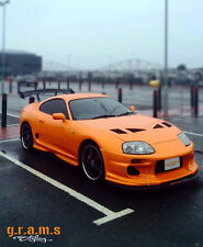Toyota Supra MK4 Front Bumper Splitter / Lip with Pair of RODS INCLUDED V6