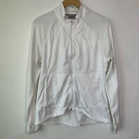 Athleta Women's White Full Zip Athletic Jacket Coat, Size X-Large