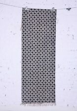 Cotton Block Printed Geometric Flat weave - Handwoven Dhurrie Area Rug 2.5x8 Ft