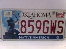LICENSE PLATE OKLAHOMA NATIVE AMERICA