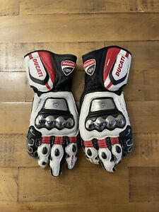 DAINESE FULL METAL D1 DUCATI CORSE Leather RACE Motorcycle Gloves SIZE 9 / LARGE