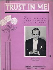 Trust In Me,  Freddy Martin photo, 1936,  Vintage Sheet Music