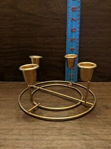"Four Post Candle Holder 6"" x 4"""