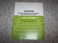1985 Toyota Land Cruiser FJ60 Chassis Body Shop Service Repair Manual Supplement