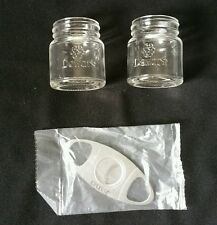 2 Dewar's mason jar shot Glasses with 1 cigar cutter