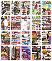 20x Motocross Race Rossi 46 Sticker Bike Arai Helmet Moto-GP Sponsor Logo Decals