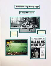 Bobby Riggs & Billie Jean King Original Autographs Reduced 20%