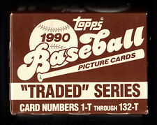 1990 TOPPS TRADED SERIES COMPLETE BASEBALL CARD BOX SET JUSTICE, OLERUD, HUNDLEY