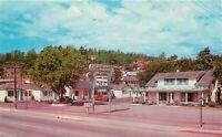 Old Chrome Postcard Arizona I038 Gaslite Motel Flagstaff Santa Fe Street View