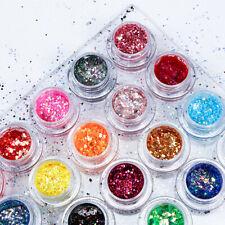 34 Color Sequins Glitter Gel Cream Eye Shadow Nail Art Facial Makeup Cosmetics