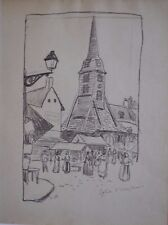 REDUCED! Ludovic-Rodo Pissarro - Pen and Ink on Paper   Circa 1903