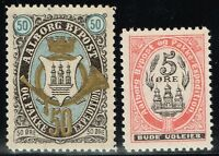 Denmark - Aalborg Bypost Stamps (5 ore & 50 Ore) - Mint No Gum - Lot 110815