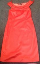 Stunning Fully Lined Orange Satin Look Dress From Teatro Size 8