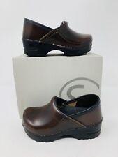 Sanita Clogs Children's Kids Gitte Cabrio Brown Slip on Shoes Leather EU 26 10.5