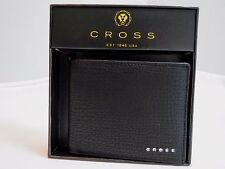 Authentic CROSS brand RTC BLACK Slim Leather BIFOLD Wallet AC238121B-1