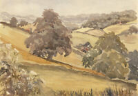 A.M. Johnson - A Pair of Mid 20th Century Watercolours, English Landscapes