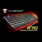 7 Color USB LED Backlight Multimedia Wired PC Gaming Keyboard Crack Illuminated