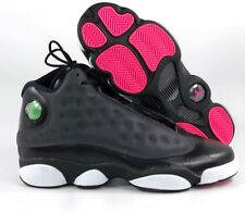 9e903dbd51d7cb Nike Air Jordan 13 XIII Retro GG Black Anthracite Grey Pink 439358-009 8.5Y