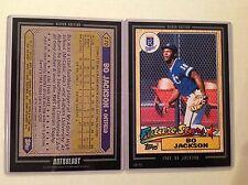 1987 BO JACKSON #170 RC ROYALS MVP 2016 Topps Anthology 5X7 Silver #ed/49 made