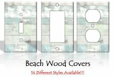 Beach Wood Rustic Light Switch Covers Tropical Ocean Sunset Home Decor Outlet
