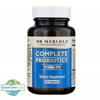 Complete Probiotics | Dr Mercola | 30 Capsules | 70 Billion CFU, Acid Resistant