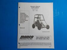1998 Manco Machine Offroad Vehicle Model 445-241 446-252 Operators Supplement