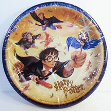 """8 Harry Potter The Sorcerer's Stone Flying Keys 8.75"""" Party Luncheon Plates New"""
