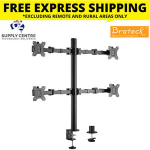 Brateck Quad Monitors Affordable Steel Articulating Monitor Arm Fit Most 17'-32'