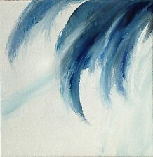 Peinture originale acrylique toile tableau Jeux des vagues 4 abstrait signé