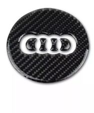 Carbon Steering Wheel Emblem Sticker for Audi A4L/A7 Q5/Q7/A1/A5/RS6/RS7/Q3