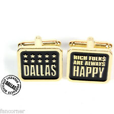 Boutons de manchettes Dallas official dallas metal cufflinks mint in box