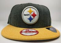 Pittsburgh Steelers New Era 9Fifty Heather Action Field Snapback Hat Cap NFL