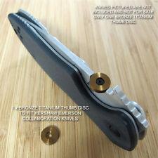Kershaw Emerson CQC-1K 2K 3K 4K 5K 6K 7K 8K Knife Titanium Thumb Disc BRONZE