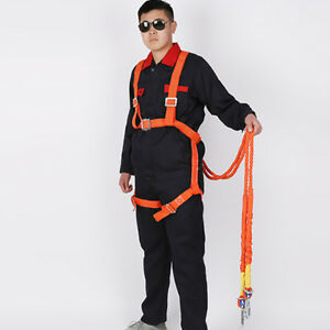 2m Full Body Safety Work Harness Fall Arrest, Personal Protective - 100kg
