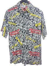 RUM REGGAE Mens Whassup Budweiser S/S Button Down Shirt Large L Rayon