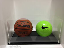 Double Round Ball Display Case Acrylic Perspex BasketBall Soccer Netball