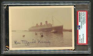 Rose Kennedy signed autograph auto 4x6 Photo card Mother of JFK PSA Slabbed