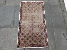 Shabby Chic Old Traditional Hand Made Persian Oriental Pink Wool Rug 113x61cm