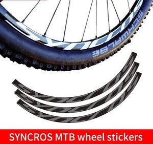 SYNCROS Wheel Sticker set for Mountain Bike MTB Bicycle Race Cycling Decal