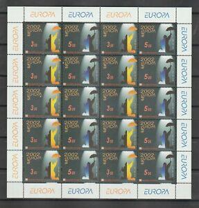 s38745 CROATIA EUROPA CEPT 2002 MNH** MS
