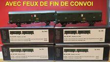 MW 30301/303/305 MODELS WOLD SET DE 2  FOURGONS  FEUX DE FIN DE CONVOI NEUF