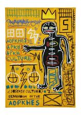 "BEAUTIFUL ""Jean Michel BASQUIAT"" hand made, not reproduction untitled painting."